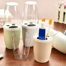 Brand New Creative Couple Toothbrush Cup Rinse Mug Holder Stand Bathroom Cute Plastic Set High Quality Toothbrush Cup Supply