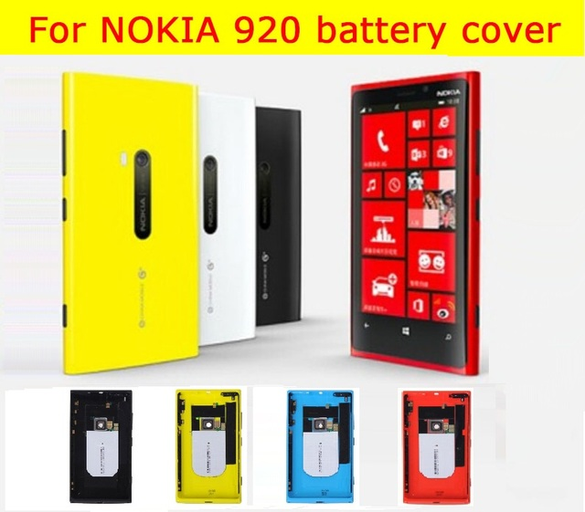 """Hot 100% original Rear battery door cover for Nokia lumia 920 4.5"""" back housing Colorful Rubber Matte Hard Case +1x screen film"""