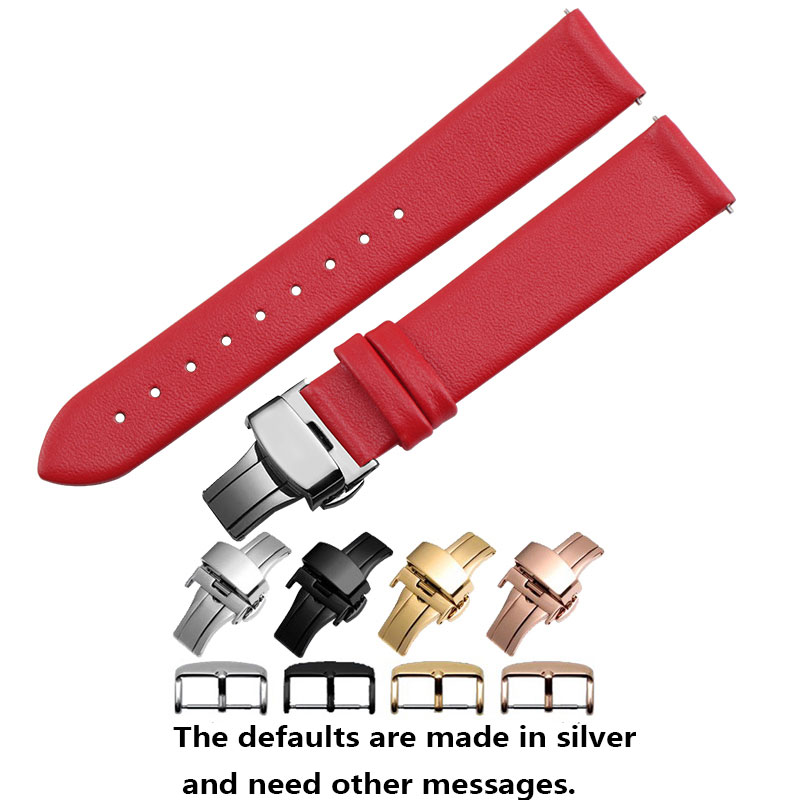 18mm 20mm Ultrathin leather strap smart watch accessories mens color genuine leather wristband fit Withings Activite/ steel/ Pop