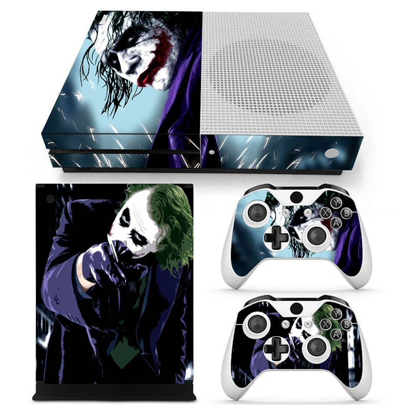 Harley Quinn Skin Sticker Cover Protector Vinyl Sticker For XBOX ONE Slim Console Kinect and 2 Controller Skin #0073