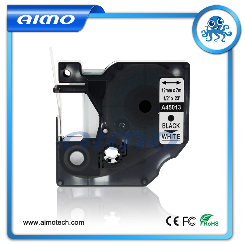 Free Shipping 10Pcs 45013 For Dymo Label Printer Labelmanager Compatible Dymo D1 12mm Black on White