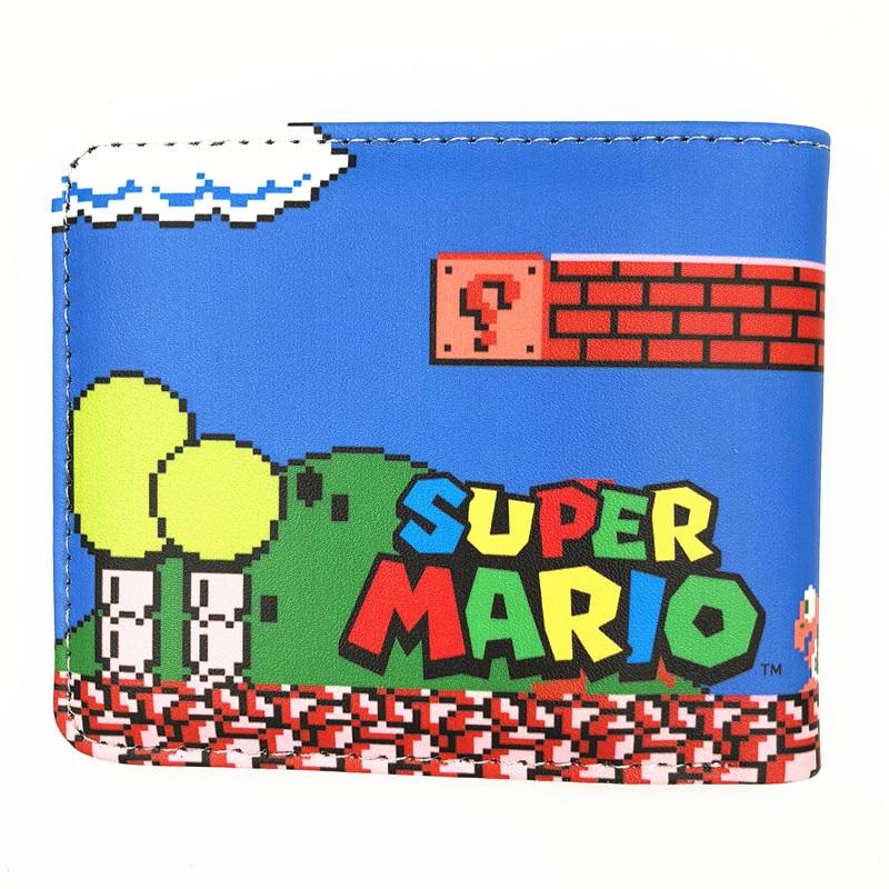 Новое Поступление Super Mario World Кошелек Симпатичный мультфильм комиксы кошелек студент короткая игра бумажника держатель кредитной карты аниме кошелек W477