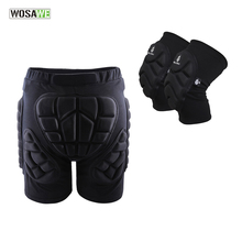WOSAWE Motorcycles Protective Gear Hip Pad + Knee Pads Ski Skateboard Snowboard Protection Resistance Roller Padded Shorts