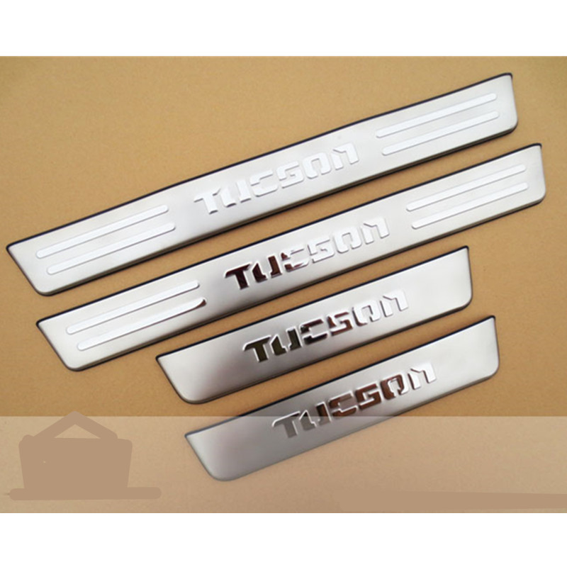 ACCESSORIES FIT FOR 2006 2007 2008 2009 2010 2011 2012 20132014 HYUNDAI TUCSON DOOR SCUFF SILL PANEL STEP PLATE COVER