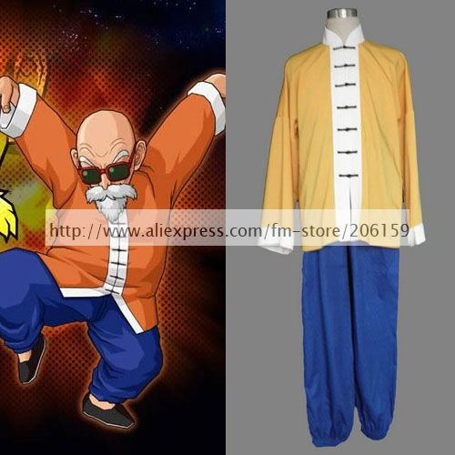 Japanese Animation Dragon Ball Muten-Roshi Cosplay Costume For Halloween Men Clothing Outwear Pants Casual Clothing