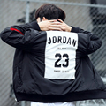 Autumn Winter Jacket Men 2016 Baseball Collar Jordan 23 Ma1 Bomber Pilot Jacket Men Fashion Print Slim Padded Jacket Men Tide