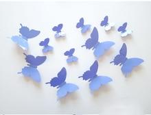 12 Teile Satz PVC Schmetterling Mdchen 3D Wandaufkleber Steuern Dekor Wohnzimmer Poster Vintage Lila Wandtattoos Fr Kinderzimm
