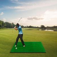 Golf Double Hole Strike Pad Golf Mat Golf Training Aids Outdoor Hitting Pad Practice Grass Mat Game Golf Training Mat Grassroot