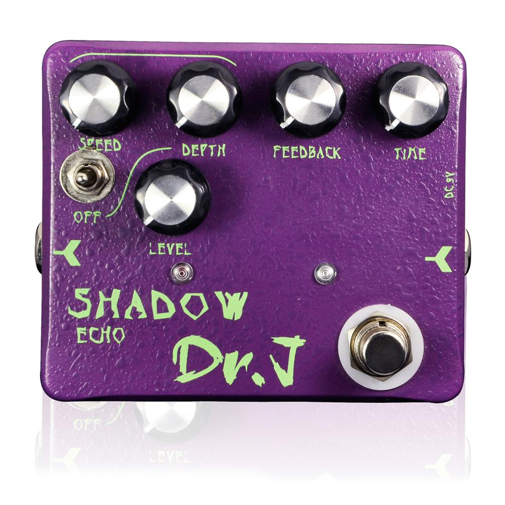 Dr. J Shadow Echo Delay Electric Guitar Effect Pedal Accessories True Bypass Hand Made Hovering Analog Stompbox D54 dr j d55 aerolite compressor hand made electric guitar effect pedal true bypass guitar accessory