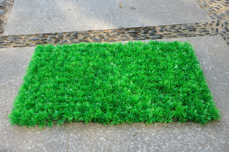 artificial fake grass rug pine needle lawn mat 40 x 60cm house party art deco