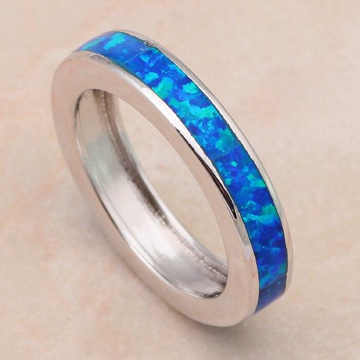 Низкая цена, опт, розница, Синий огненный опал, серебряное кольцо с штампами, США, Sz#6#7#7,5#8#9#10, модное ювелирное изделие для женщин OR691A