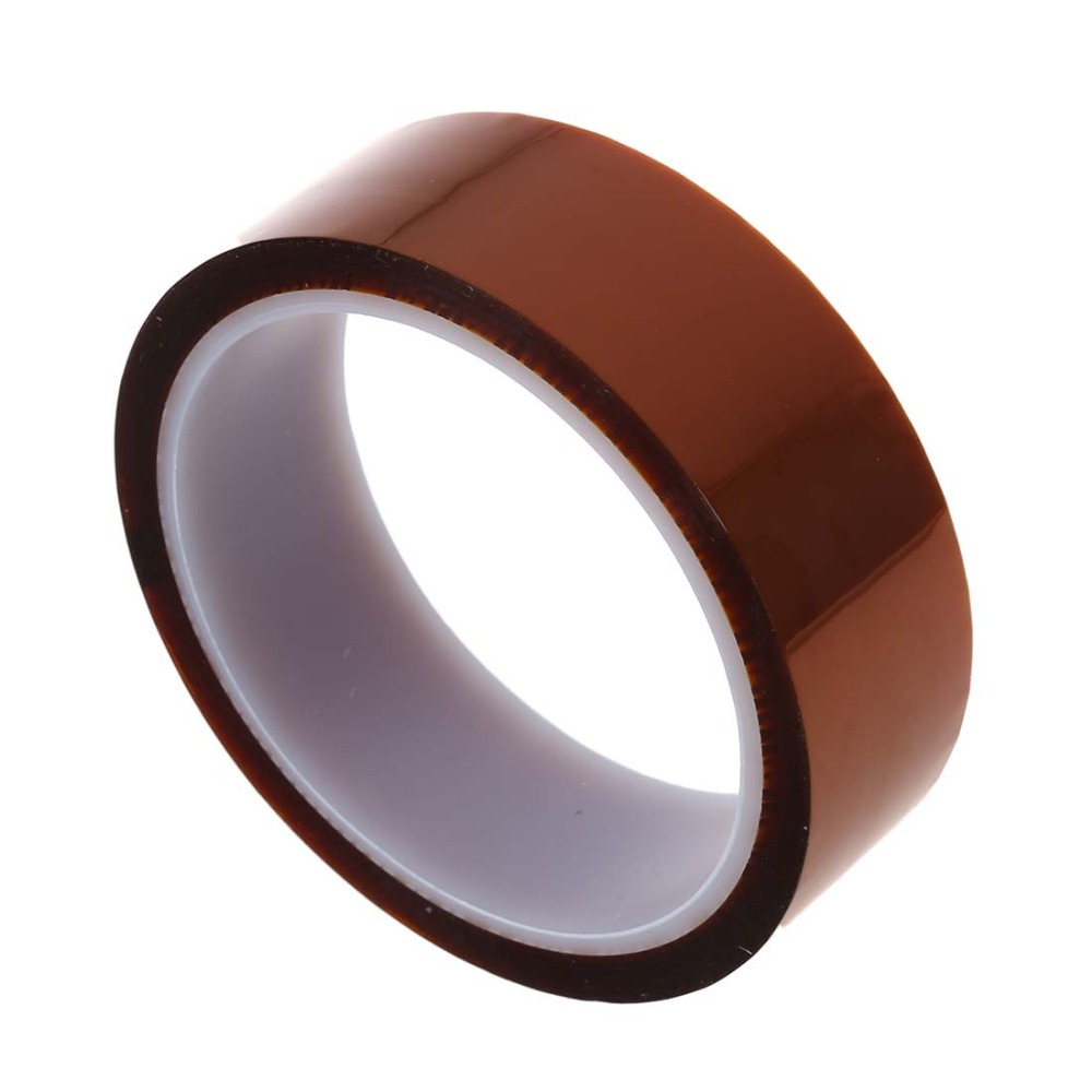 Hot Sale 1PC 30mm x 33m 100ft Kapton Tape High Temperature Heat Resistant Polyimide For Transformer Motor Coil Capacitor 55mm x 33m 100ft kapton tape high temperature heat resistant polyimide fast ship