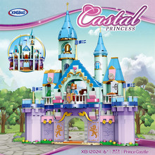 XINGBAO 12024 873PCS NEW City Girls Series The Prince Castle Set Building Blocks Bricks Friends Model With Action Figure