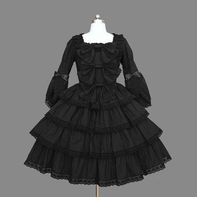 (LLT060) Lolita Three Quarter Sleeveless Sweet Lolita Short Dress Ball Gown Fancy Prom Dress Halloween Party Masquerade Costume