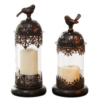 European Candlestick Decoration Romantic Candlelight Dinner props Decoration Candle Taiwan Retro American