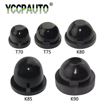 YCCPAUTO HID LED Headlight Car Dust Cover Sealing Cap Rubber Waterproof Dustproof Headlamp Cover 70mm 75mm 80mm 85mm 90mm(China)