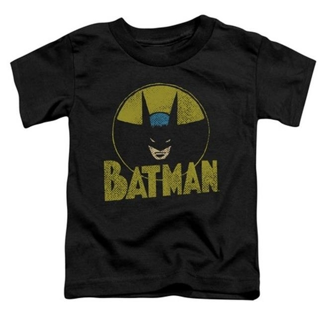 Trevco Dc-Circle Bat – Short Sleeve Toddler Tee – Black Small 2T