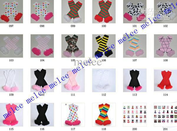 Halloween Gift Christmas Fuschia Lace Ruffle Leg Warmers Girls Infant Santa 108 design 20pair lot
