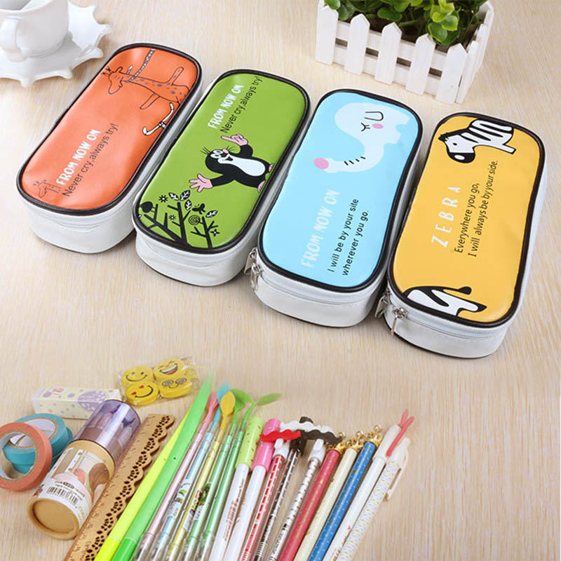HOT kawaii School Pencil case for Girls boys Large Multifunction Cute Pencil Bag Stationery Offices School Supplies Gift new leather pencil case bag for school boys girls vintage pencil case box stationery products supplies as gift for student