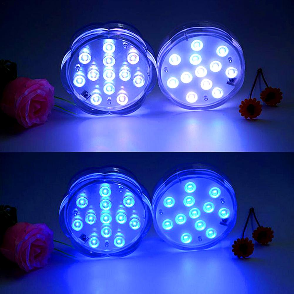 Led Lamps Learned Led Large Plum Style Remote Control Dive Light Knob Remote Control Timing 12-light Candle Aquarium Light With Button Battery Strengthening Waist And Sinews Lights & Lighting