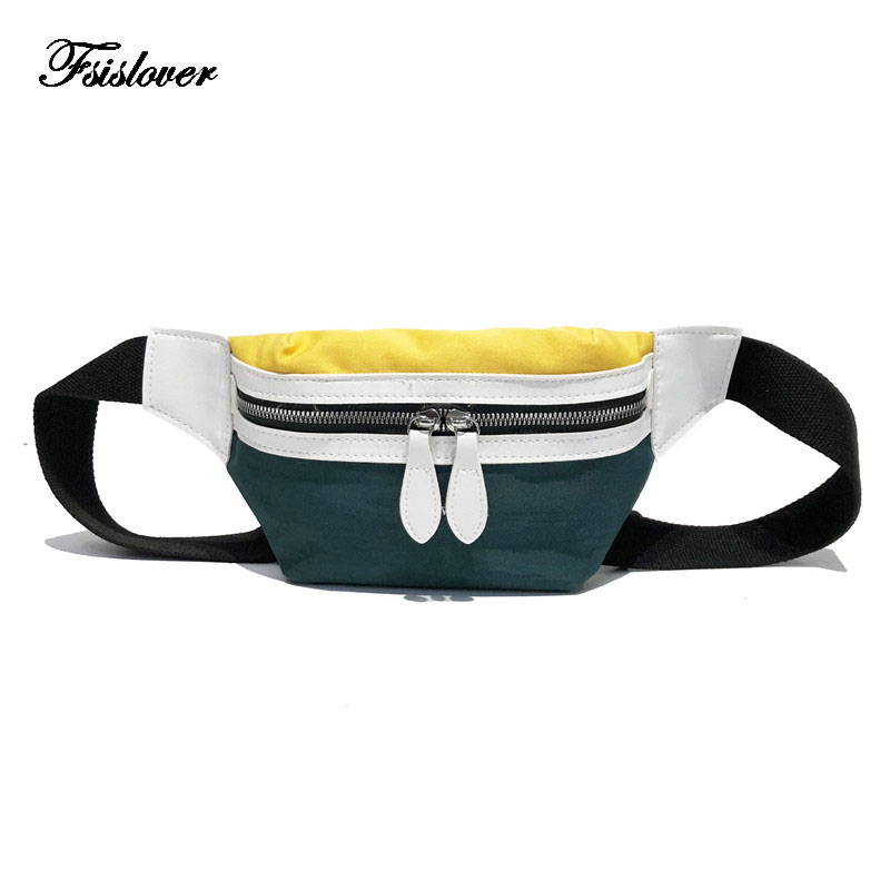 FSISLOVER Bag Belt Women 2019 New Canvas Bum BagLeisure Panelled Shoulder Bags Fanny Pack For Women Girls Letter Waist Bag PacksFSISLOVER Bag Belt Women 2019 New Canvas Bum BagLeisure Panelled Shoulder Bags Fanny Pack For Women Girls Letter Waist Bag Packs