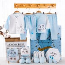 18 PCS 0 12mouth baby set jungen mädchen kleidung 100% baumwolle infant anzug baby mädchen kleidung outfits hosen baby kleidung sets