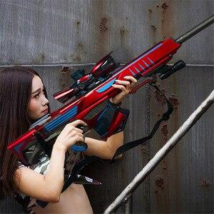 Image 2 - Plastic Infrared Water Bullet Gun Toy For Children Boys Sniper Rifle Pistol Soft Paintball Outdoor Toys Shooting Gun Kids Gifts