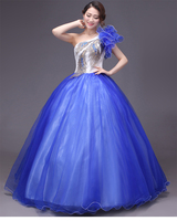 royal blue peacock embroidery rhinestone beading ball gown studio medieval dress Renaissance gown queen Victoria Belle Ball gown