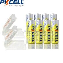 8PCS PKCELL AA 배터리 1.2v 2600 ~ 2800mah NIMH 충전식 aa 배터리 및 AA/AAA 배터리 용 2PC 배터리 박스 홀더 케이스