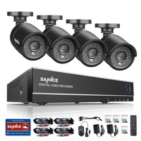 SANNCE 4CH HD 1080P 4IN1 CCTV DVR Camera System 4pcs 720P TVI Security Cameras P2p Outdoor