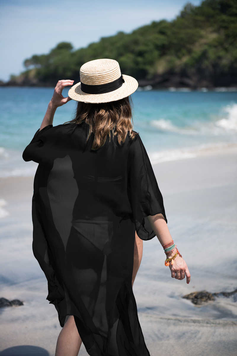 954638f057 Women Chiffon Beach Dress 3 Color Bikini Set Swimsuit Cover-up Summer  Ladies Beachwear Outfit