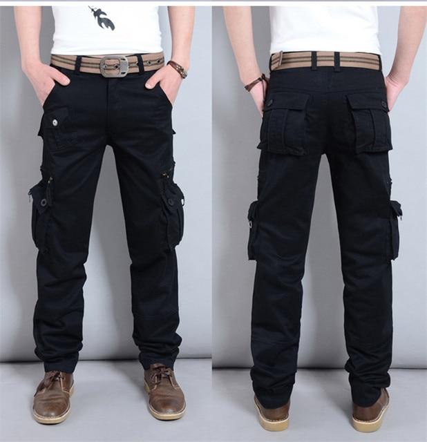 Pantalones de carga de Peso Medio Ordinario de Venta Directa de La Venta Caliente 2016 de Algodón Para Hombre Pantalones Hombre Pantalones Casuales Militar Para Los Hombres 4831