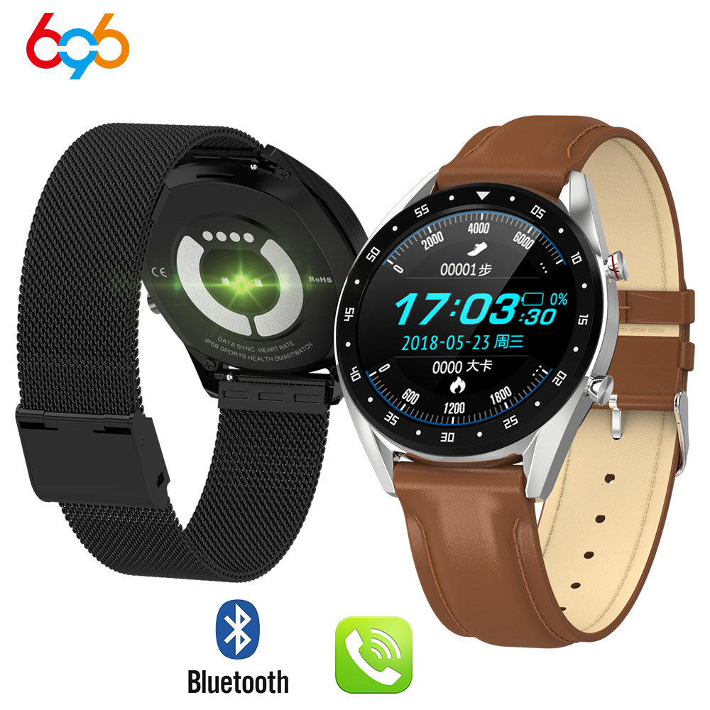 696 L7 ECG PPG smart watch with electrocardiograph ecg display holter ppg heartrate monitor blood pressure women smart bracelet