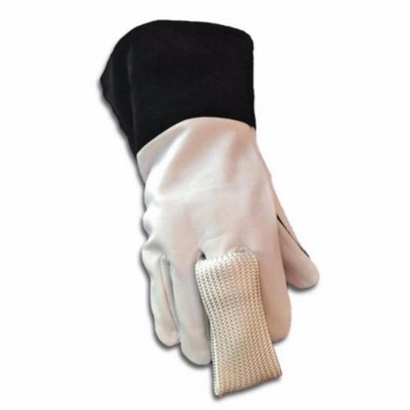 2ピース/ロットTIG指溶接手袋コンボ溶接ツールガラス繊維熱シールドガード保護溶接装置手袋