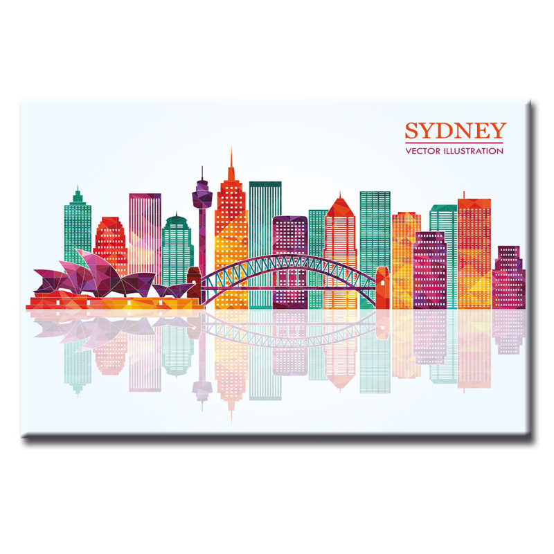 1 Pieces Large Canvas Painting Pictures City silhouette poster Wall Pictures for Living Room Print Paintings Home Decor Canvas in Painting Calligraphy from Home Garden