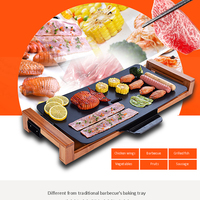 Smokeless safe barbecue machine ceramic electric barbecue Home non stick baking pan Indoor oven Barbecue pot Delicious food