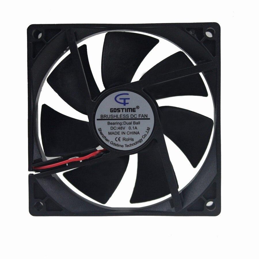 1Pcs Gdstime 9225 9cm 90mm 48V 0.1A Double Ball Bearing Server DC Cooling Fan
