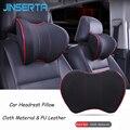 Автомобильная подушка для шеи JINSERTA  Автомобильная подушка из искусственной кожи с эффектом памяти  подголовник для шеи  автомобильные аксе...