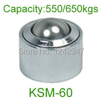 2pcs 60mm Chrome Bearing Steel Ball KSM 60 650kg Heavy Duty Convex Out Wheel Universal Ball