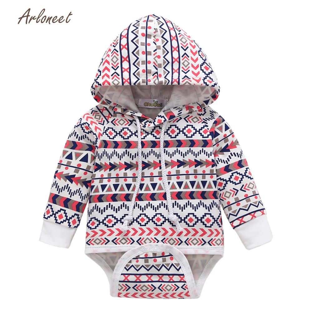 ARLONEET baby girl clothes Newborn Infant Baby Boy fashion newborn clothes set Hooded Romper Jumpsuit Tops Outfits SEP1