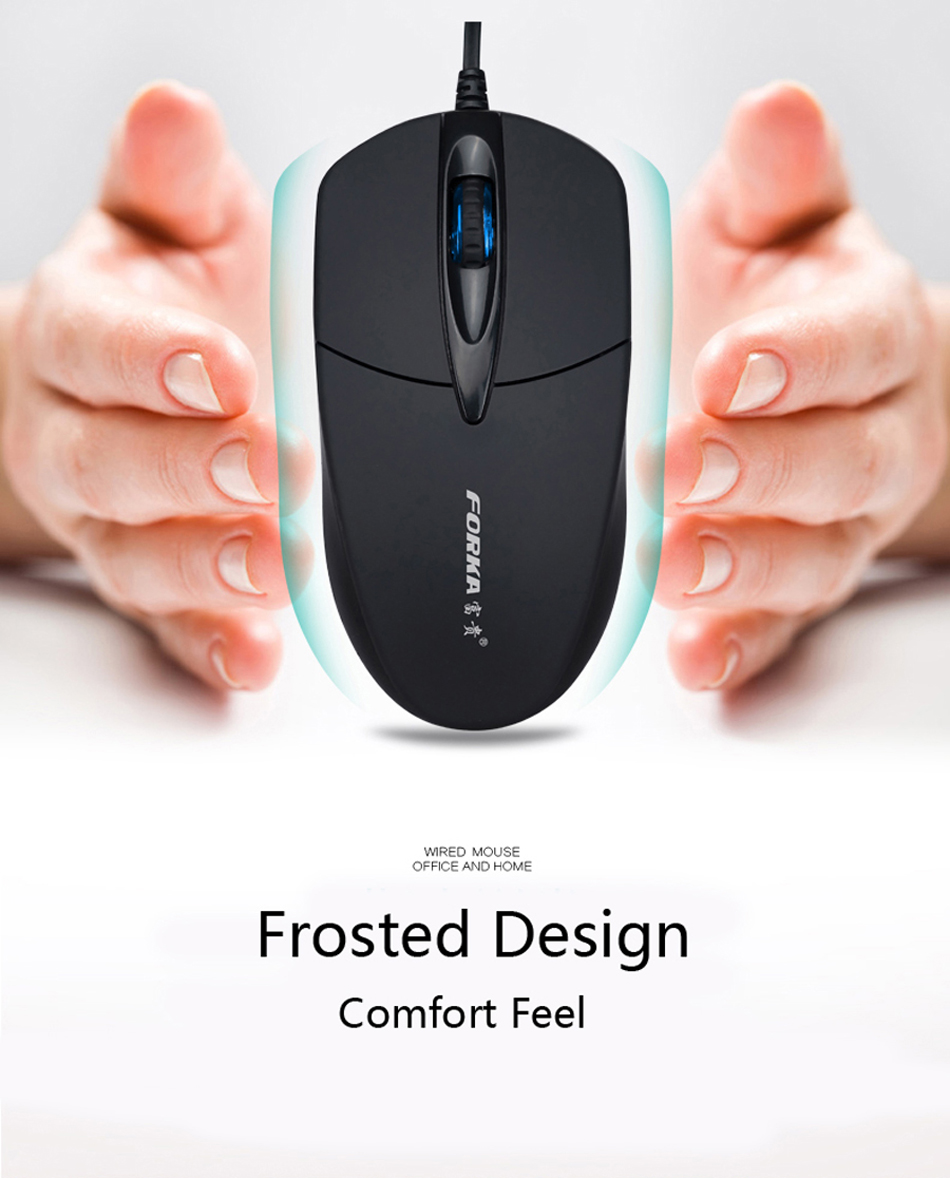 Big Sale] Forka Silent/Sound Click Mini Wired Computer Mouse