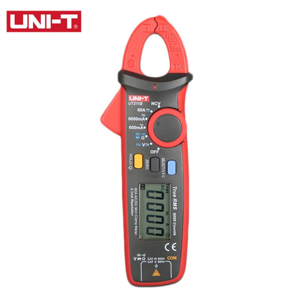 UNI-T UT211B 60A High Resolution True RMS digital Clamp Meters W V.F.C. NCV Test & Zero Mode pinza amperimetrica multimeter