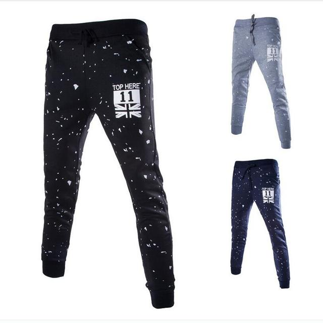 Мужские повседневные брюки 2016 новые Дизайнерские Брюки Штаны Мужчины Повседневные Брюки Тонкий Карандаш Брюки Полосой Бегунов Хип-Хоп штаны