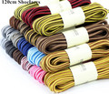 Hot Selling 120cm Round Shape Shoelace Nylon Shoe Lace Double Tone Color Adult Shoelaces Boot Shoelaces 3 pairs/lot
