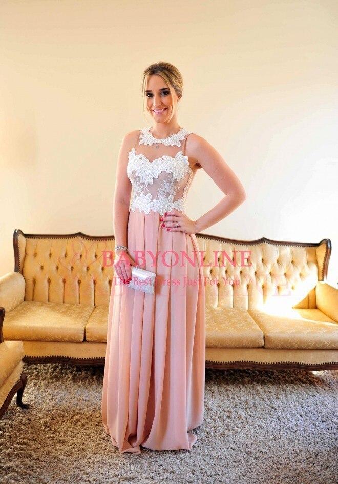 Robe De Renda rose Sexy longueur de plancher perlée corsage robe De soirée longues robes de bal voir à travers le dos Vestido De Festa longo - 2