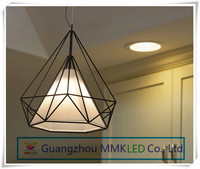 Decorative Diamond shape Pendant Lamp design Drawing room Bedroom 38cm AC110 240V