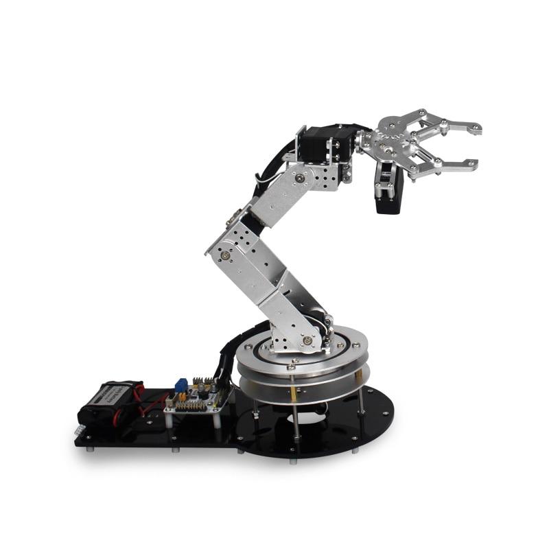 Industrial Robot 550 Mechanical Arm 100% Alloy Manipulator 6 Degree  Robot arm Rack with 6Pcs LD-1501MG Servos + 1 Alloy Gripper abb 6dof industrial robot mechanical arm alloy robotics arm rack with servos for arduino assembled