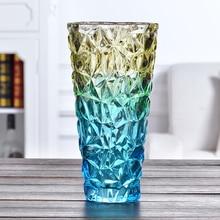 цена на Modern glass vase Thicken Magic color vases Hydroponics Flower arrangement container living room wedding home decoration