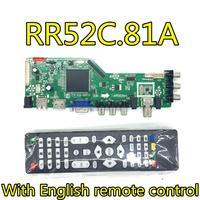 RR52C.81A DVB T2/DVB T/DVB C LCD LED TV Controller Driver Board work