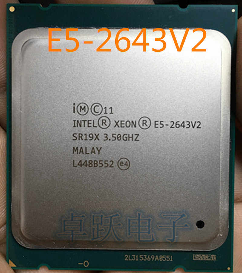 QS Version E5-2643V2 CPU 6-cores 3.50GHZ 25MB 22nm E5 2643V2 LGA2011 E5 2643 V2 free shipping